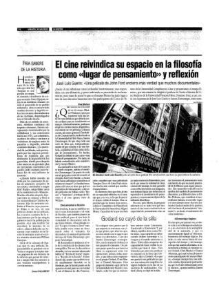 Eva Muñoz La Razón Cultura y Espectáculos El cine como lugar de pensamiento