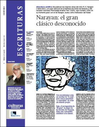 Eva Muñoz La Vanguardia Culturas Narayan Artículo