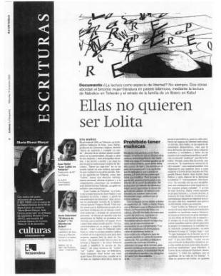 Eva Muñoz La Vanguardia Culturas Azar Nafisi Artículo