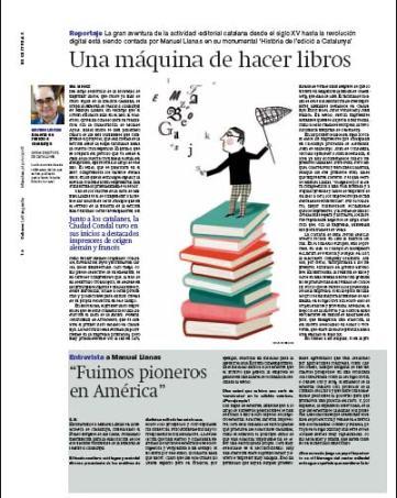 Eva Muñoz La Vanguardia Culturas Historia de la edición en Cataluña Manuel Llanas