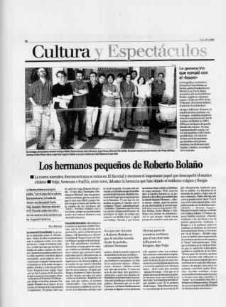 Eva Muñoz La Razón Cultura Bolaño Crónica