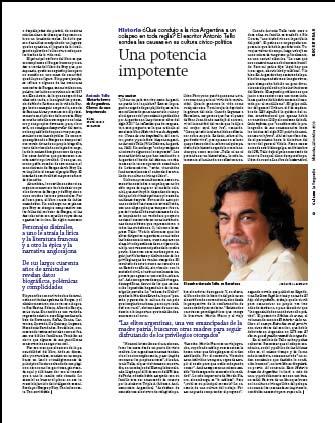 Eva Muñoz La Vanguardia Culturas Historia breve de Argentina Antonio Tello Artículo