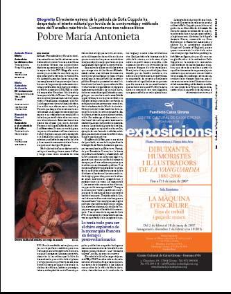 Eva Muñoz La Vanguardia Culturas María Antonieta Reportaje
