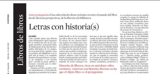 Eva Muñoz La Vanguardia Culturas Letras con historia reportaje
