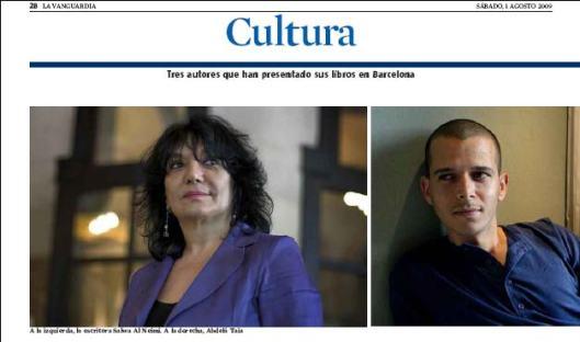 Eva Muñoz La Vanguardia Cultura Abdelá Taia Salwa Al Neimi Reportaje