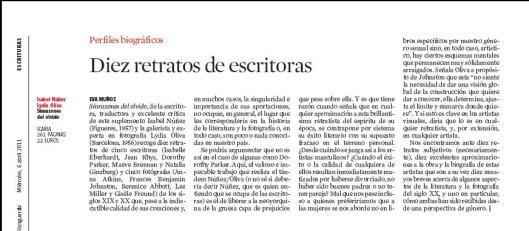 Eva Muñoz La Vanguardia Culturas Isabel Núñez Sinrazones del olvido Libro Reseña