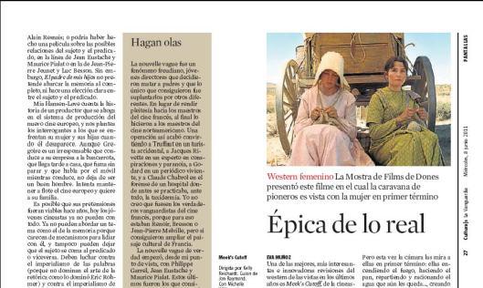 Eva Muñoz La Vanguardia Culturas Kelly Reichardt Meek's Cutoff Película Reseña