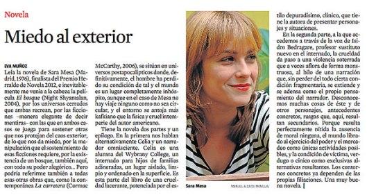 Eva Muñoz La vanguardia culturas Sara Mesa Novela articulo