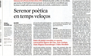Eva Muñoz Culturas La Vanguardia Setmana Poesia Barcelona
