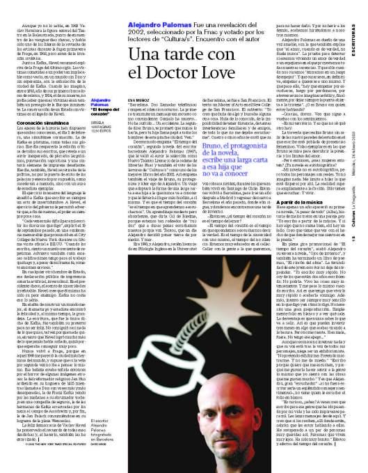 Alejandro Palomas_El tiempo del corazón_en blog Eva Muñoz