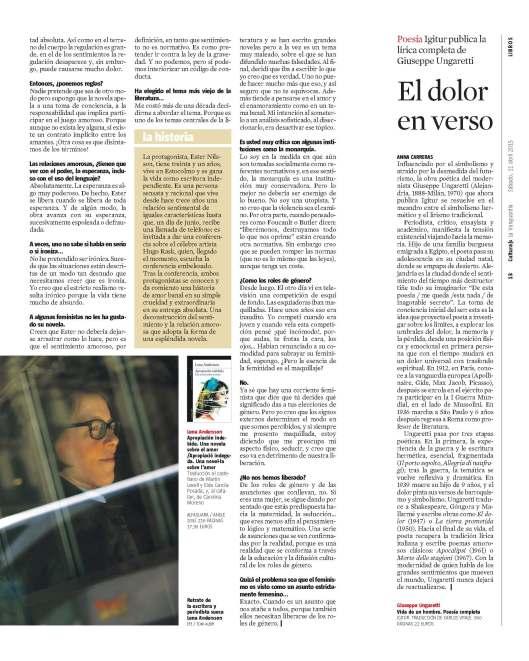 Lena Andersson en blog Eva Muñoz
