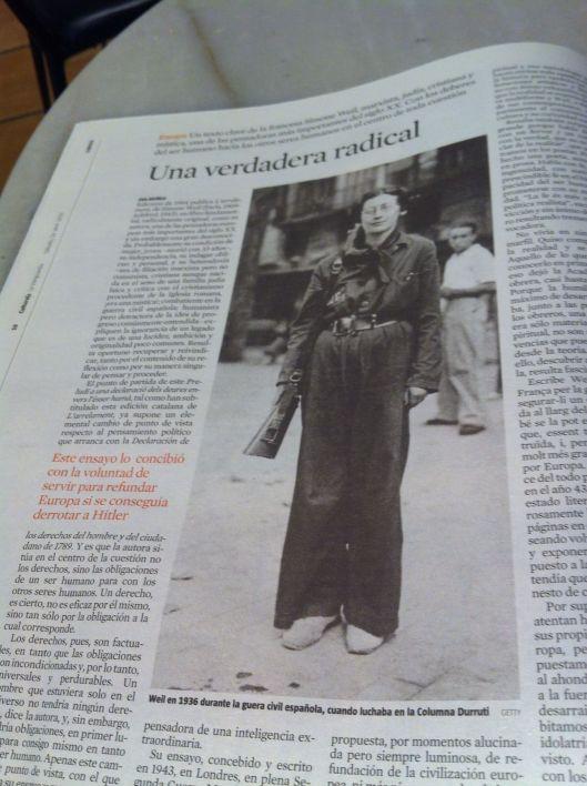 Simone Weil en blog Eva Muñoz