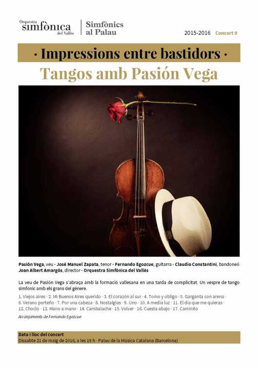 Tangos amb Pasión Vega en blog Eva Muñoz