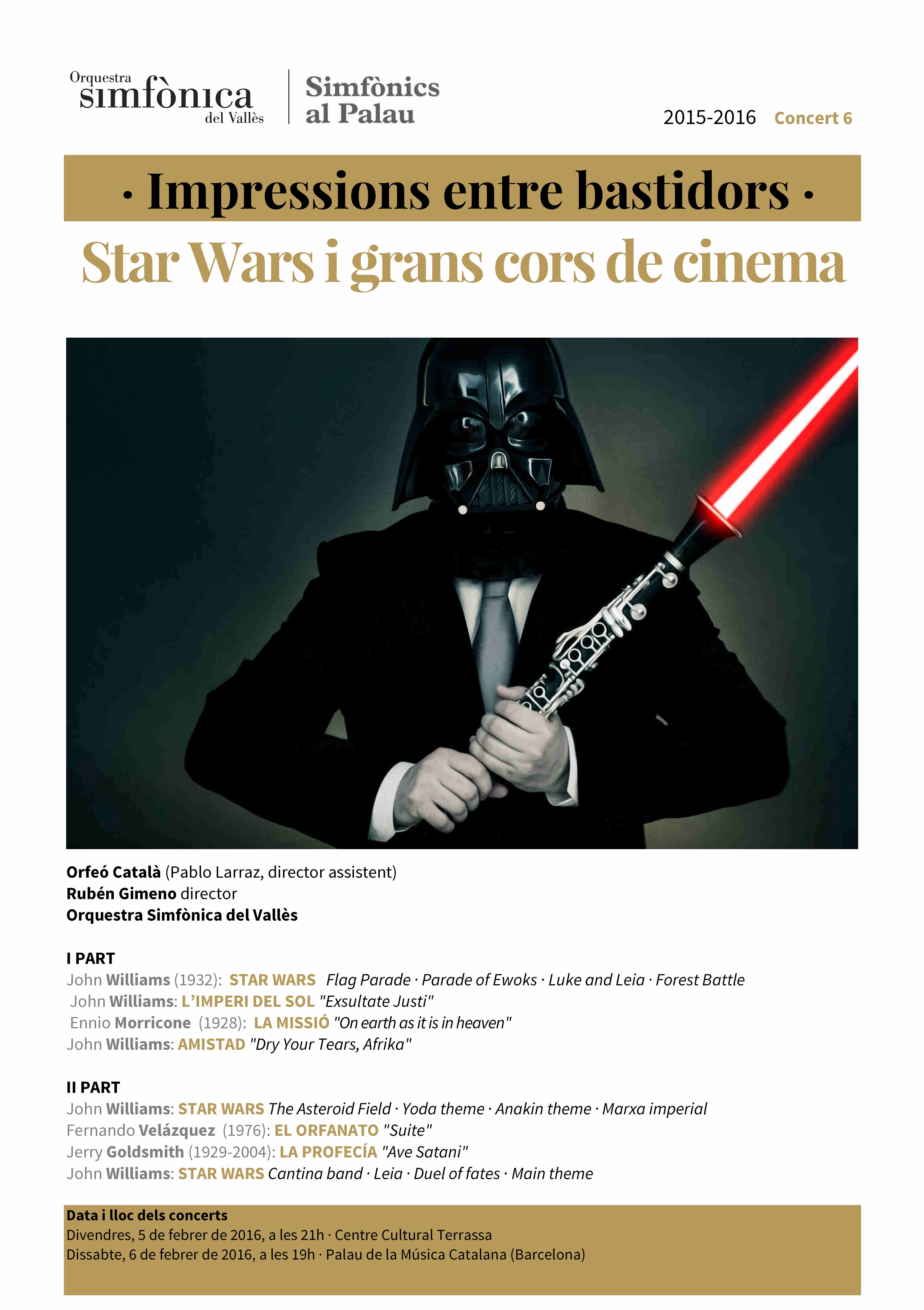 Simfònics al Palau Star Wars en blog Eva Muñoz