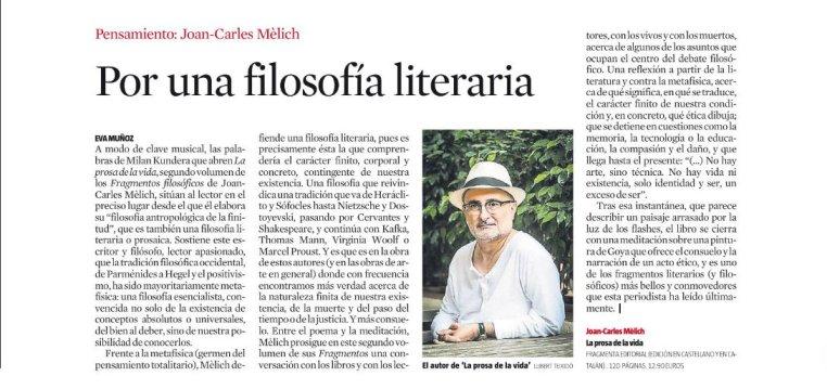 Joan-Carles Mèlich en blog Eva Muñoz